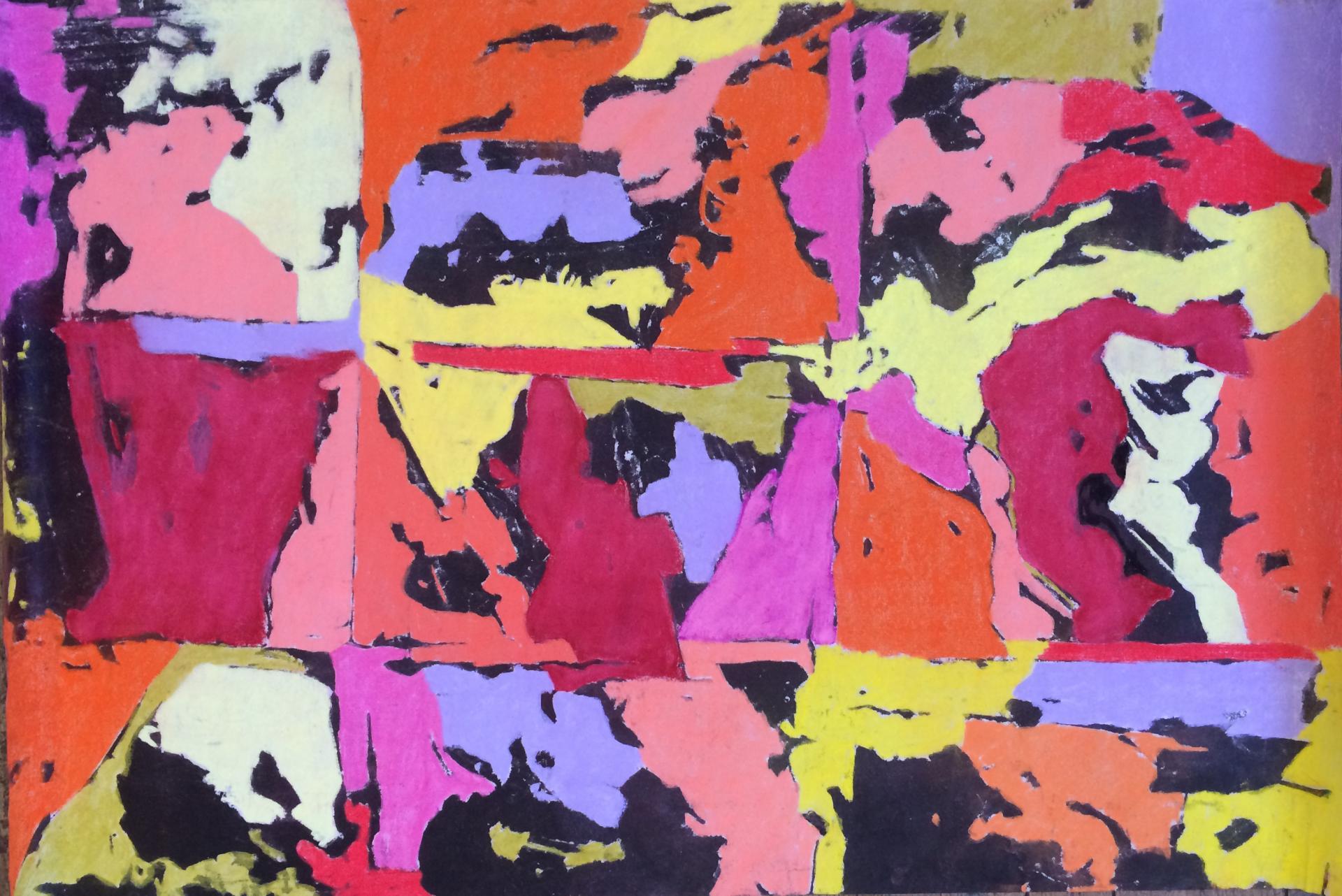 201601 70 x100 encre et pastels secs