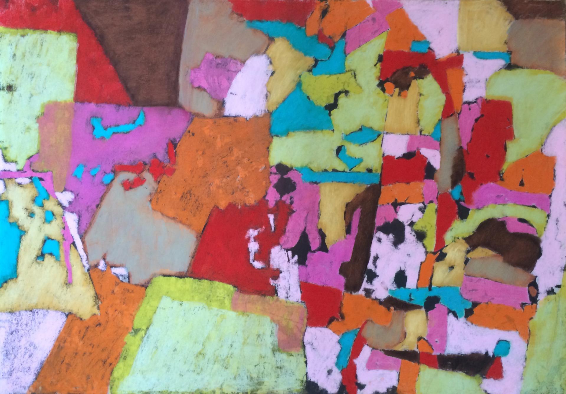 20160517 108x150 cm encadre monotype pastels secs