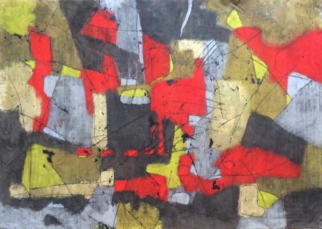 20161031 monotype et pastels secs 100x135 cm